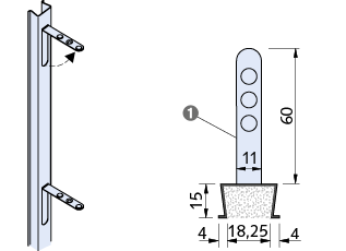Maueranschlussschiene Bild
