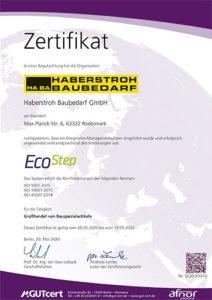 Zertifikat EcoStep