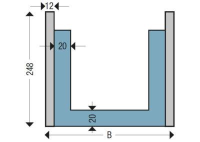 Ringankerschalung Querschnittmaße