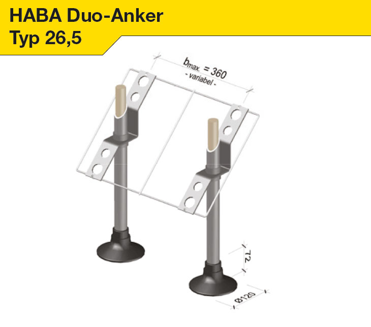 HABA Duo-Anker Typ 26,5